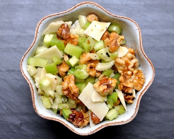 Celery Salad with Walnuts and Parmesan