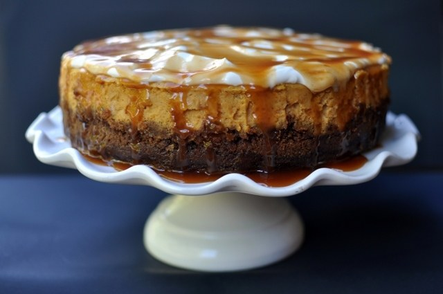 FoodSwoon » Pumpkin Cheesecake with Gingersnap Crust and Salted ...