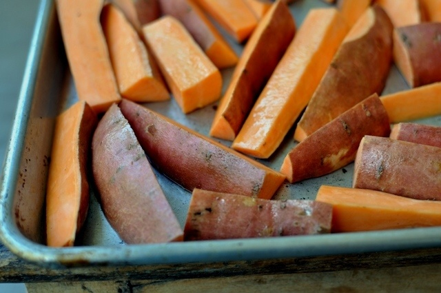Roasted Sweet Potatoes with Tahini Yogurt